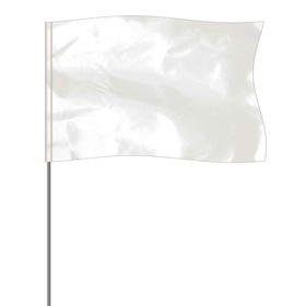 """White 5"""" x 8"""" Marker Flag on a 36"""" Wire"""