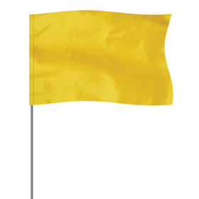 "Yellow 5"" x 8"" Marker Flag on a 36"" Wire"