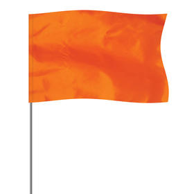 """Orange 5"""" x 8"""" Marker Flag on a 36"""" Wire"""