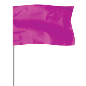 """purple 5"""" x 8"""" marker flag on a 36"""" wire"""