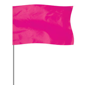 "Pink 5"" x 8"" Marker Flag on a 36"" Wire"