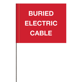 Generic Message Marking Flags - Buried Electric Cable