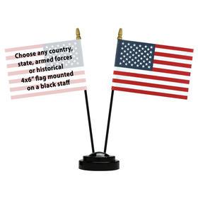 diplomat desk set w/ 1 additional flag