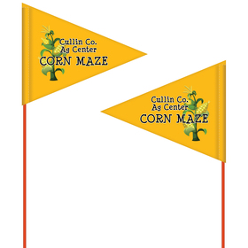 custom printed field flag – double sided