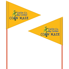 custom printed field flag – double sided