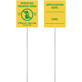 Corrugated Value Posting Signs - Two Sided Printing