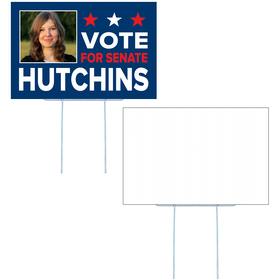 Small Corrugated Yard Sign - Full Color - 1 Side