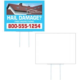 Medium Corrugated Yard Sign - Full Color - 1 Side
