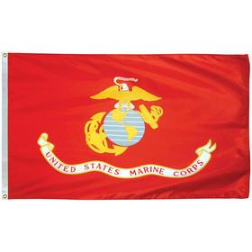 marine corps 3' x 5' outdoor econo poly w/heading & grommets
