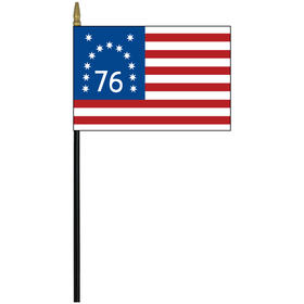 "bennington 4"" x 6"" printed rayon stick flag"
