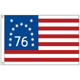 bennington 4' x 6' cotton sewn & embroidered flag