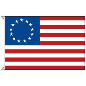betsy ross 3' x 5' outdoor nylon sewn & embroidered flag