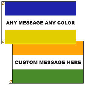 3' x 5' Custom Message Flags