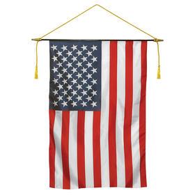 "16"" x 24"" polyester classroom u.s. flag banner"