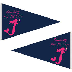 5' x 8' double sided knit polyester pennant