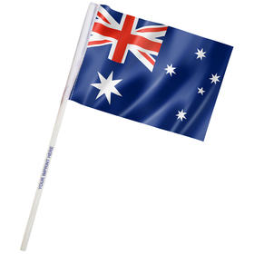 "4"" x 6"" Australia Imprinted Staff Polyester Stick Flags"