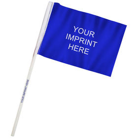 "4"" x 6"" Custom Imprinted Staff Polyester Stick Flags"