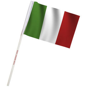 "4"" x 6"" italy imprinted staff polyester stick flags"