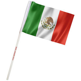 "4"" x 6"" mexico imprinted staff polyester stick flags"