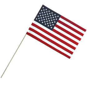 "12"" x 18"" economy cotton u.s. stick flag on 30"" dowel"