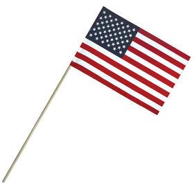 "6"" x 9"" economy cotton u.s. stick flags on a 18"" dowel"