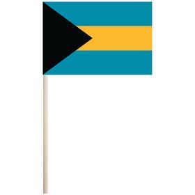 "bahamas 4'' x 6"" mounted cotton stick flag"