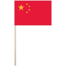 """china 4'' x 6"""" mounted cotton stick flag"""