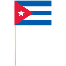 "cuba 4'' x 6"" mounted cotton stick flag"