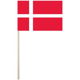 """denmark 4'' x 6"""" mounted cotton stick flag"""