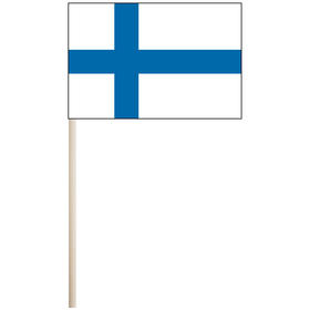 "finland 4'' x 6"" mounted cotton stick flag"