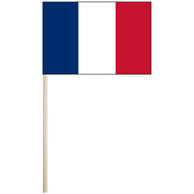 """france 4'' x 6"""" mounted cotton stick flag"""