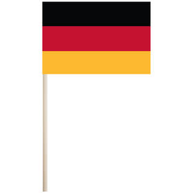 """germany 4'' x 6"""" mounted cotton stick flag"""