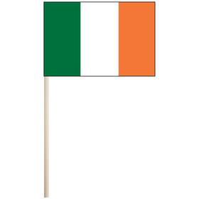 """ireland 4'' x 6"""" mounted cotton stick flag"""