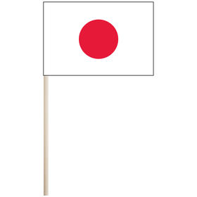 "japan 4'' x 6"" mounted cotton stick flag"