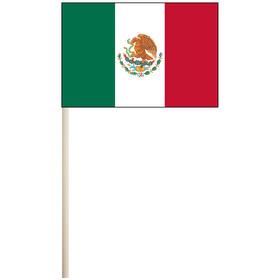 """mexico 4'' x 6"""" mounted cotton stick flag"""