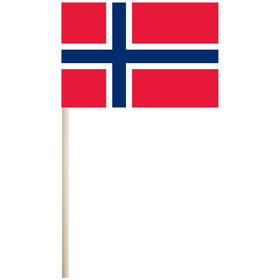 "norway 4'' x 6"" mounted cotton stick flag"