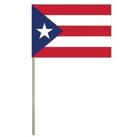 """puerto rico 4'' x 6"""" mounted cotton stick flag"""