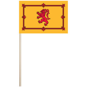 "scotland w/ lion 4'' x 6"" mounted cotton stick flag"