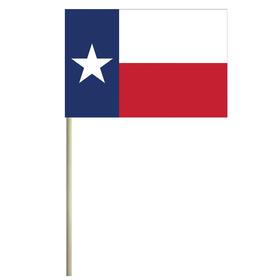 """texas 4'' x 6"""" mounted cotton stick flag"""
