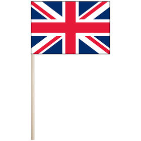 "united kingdom 4'' x 6"" mounted cotton stick flag"