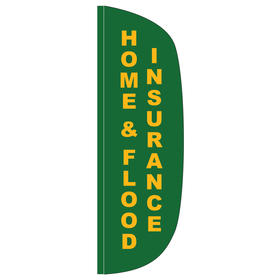 home & flood insurance 3' x 10' flutter feather flag