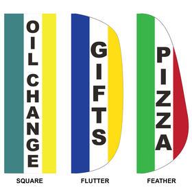 3' x 10' custom message feather flag