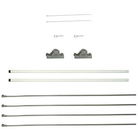 "18"" Single Economy Fiberglass Mounting Sets for Ave. Banners"
