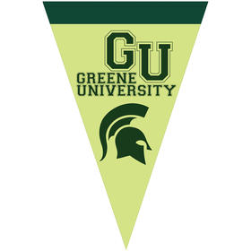 "24"" x 36"" vertical triangle shaped felt banner"