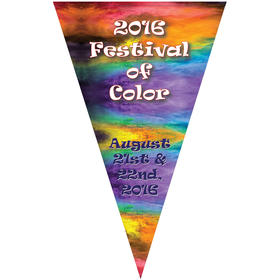 "30"" x 48"" Vertical Triangle Shaped Felt Banner"