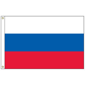 russian federation 3' x 5' outdoor nylon flag w/ heading & grommets