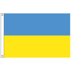 ukraine 3' x 5' outdoor nylon flag w/ heading & grommets