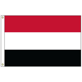 yemen 5' x 8' outdoor nylon flag w/ heading & grommets
