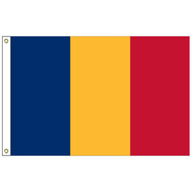 romania 2' x 3' outdoor nylon flag with heading and grommets