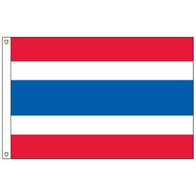 thailand 3' x 5' outdoor nylon flag w/ heading & grommets